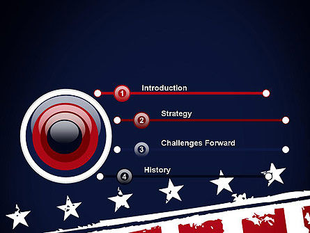 USA Flag Theme PowerPoint Template, Slide 3, 11920, America — PoweredTemplate.com