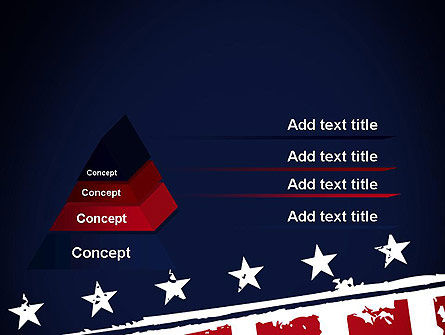 USA Flag Theme PowerPoint Template, Slide 4, 11920, America — PoweredTemplate.com