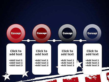 USA Flag Theme PowerPoint Template Slide 5