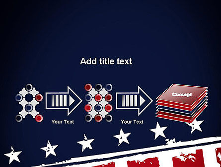 USA Flag Theme PowerPoint Template Slide 9