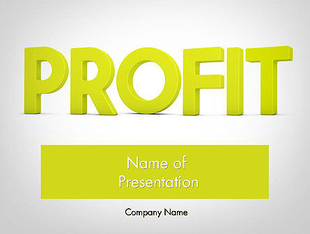 Financial/Accounting: Word PROFIT PowerPoint Template #11925