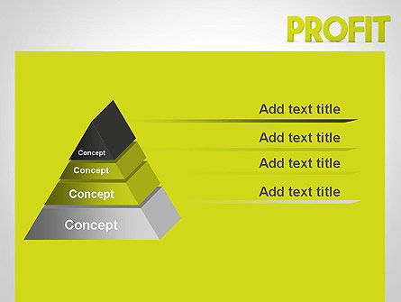 Word PROFIT PowerPoint Template Slide 12