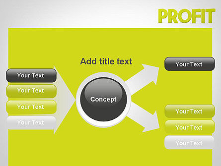 Word PROFIT PowerPoint Template Slide 14
