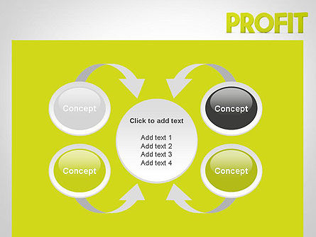 Word PROFIT PowerPoint Template Slide 6