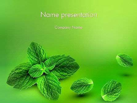 Mint Green Background PowerPoint Template