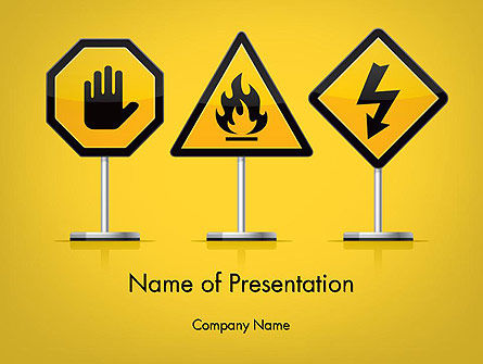 Warning Symbols PowerPoint Template, 11931, Education & Training — PoweredTemplate.com