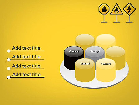 Warning Symbols PowerPoint Template Slide 12