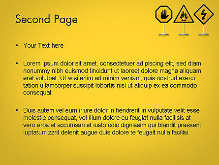 Warning Symbols PowerPoint Template, Slide 2, 11931, Education & Training — PoweredTemplate.com