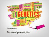 Technology and Science: Genetics Word Cloud PowerPoint Template #11933