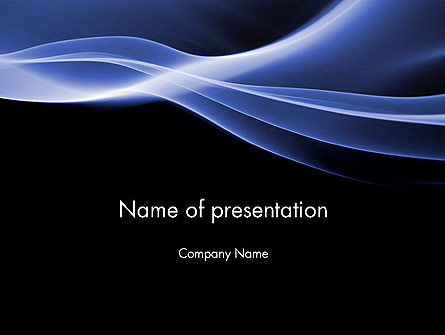Blue Wave Theme PowerPoint Template, 11934, Abstract/Textures — PoweredTemplate.com