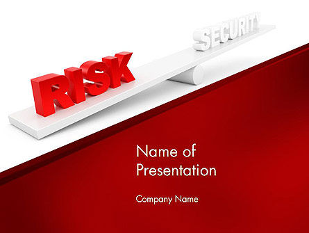 Business Concepts: Security Risk PowerPoint Template #11935