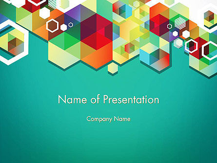 Bright Geometric Background PowerPoint Template