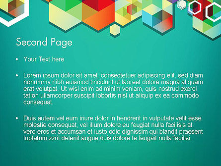 Bright Geometric Background PowerPoint Template Slide 2