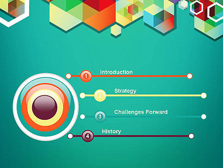 Bright Geometric Background PowerPoint Template, Slide 3, 11936, Abstract/Textures — PoweredTemplate.com