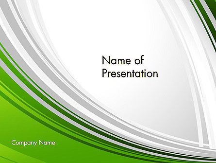 Abstract/Textures: Green and Gray Curves PowerPoint Template #11938