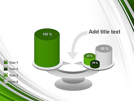 Green and Gray Curves PowerPoint Template Slide 10