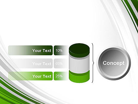 Green and Gray Curves PowerPoint Template Slide 11