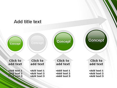 Green and Gray Curves PowerPoint Template Slide 13