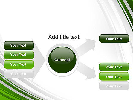 Green and Gray Curves PowerPoint Template Slide 14