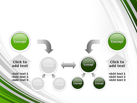 Green and Gray Curves PowerPoint Template Slide 19