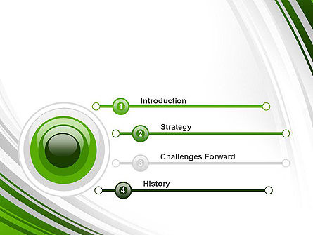 Green and Gray Curves PowerPoint Template Slide 3