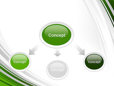 Green and Gray Curves PowerPoint Template Slide 4