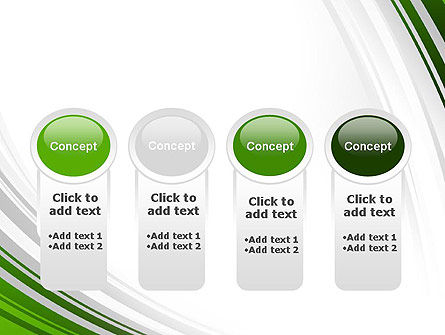 Green and Gray Curves PowerPoint Template Slide 5