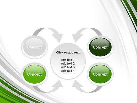 Green and Gray Curves PowerPoint Template Slide 6