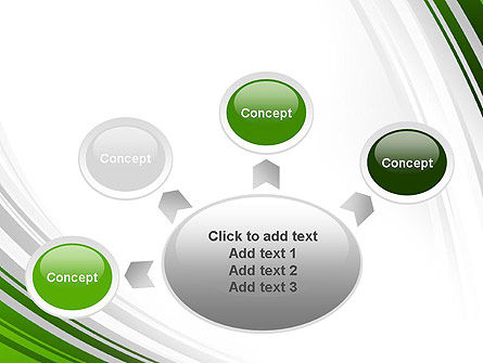 Green and Gray Curves PowerPoint Template Slide 7