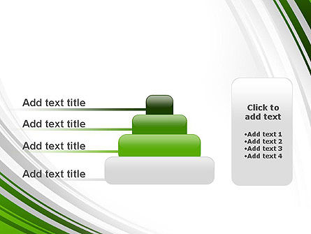 Green and Gray Curves PowerPoint Template Slide 8