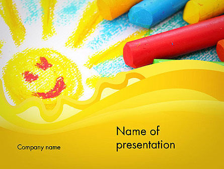 Early Childhood Art PowerPoint Template, 11939, Education & Training — PoweredTemplate.com
