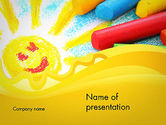 Education & Training: Early Childhood Art PowerPoint Template #11939