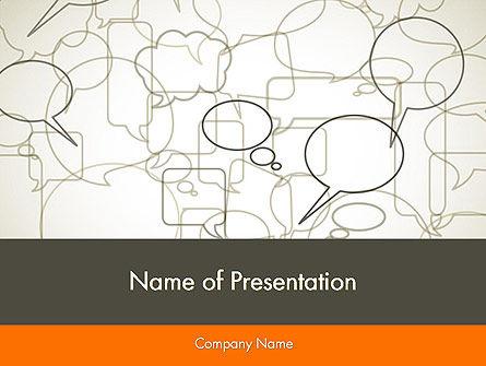 Comments PowerPoint Template, 11940, Telecommunication — PoweredTemplate.com