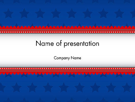 Abstract/Textures: Blue Stars Background PowerPoint Template #11941