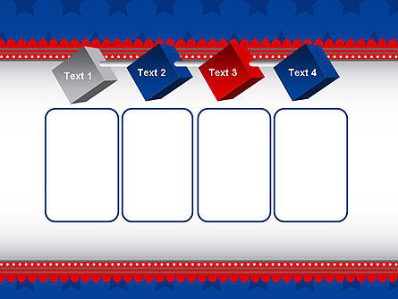 Blue Stars Background PowerPoint Template Slide 18