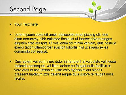 Sapling PowerPoint Template, Slide 2, 11944, Nature & Environment — PoweredTemplate.com