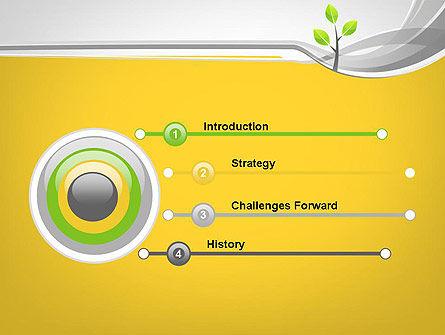 Sapling PowerPoint Template, Slide 3, 11944, Nature & Environment — PoweredTemplate.com