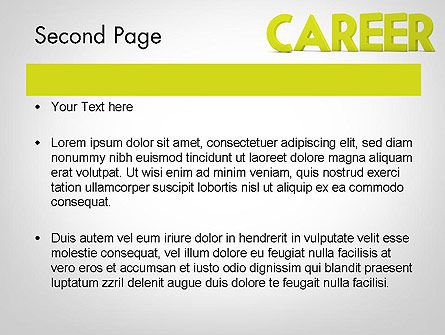Word CAREER PowerPoint Template Slide 2