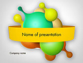 Abstract/Textures: Abstract Dividing Drops PowerPoint Template #11953