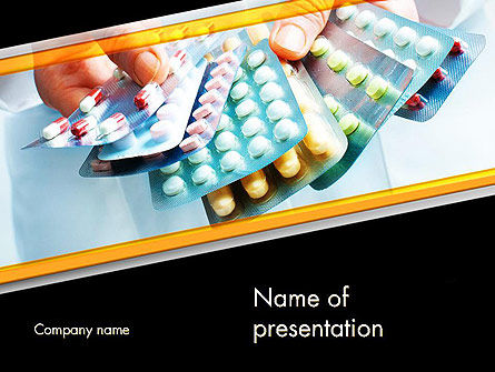 Doctor Hands Holding Medicine PowerPoint Template, 11954, Abstract/Textures — PoweredTemplate.com