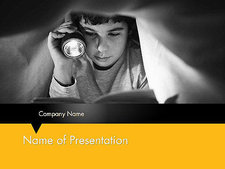 Education & Training: Reading Under Covers PowerPoint Template #11958