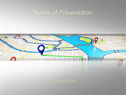 Navigation Points PowerPoint Template, 11959, Careers/Industry — PoweredTemplate.com