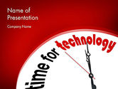 Technology and Science: Time for Technology PowerPoint Template #11960