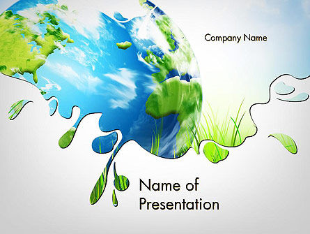Green World PowerPoint Template, 11961, Global — PoweredTemplate.com