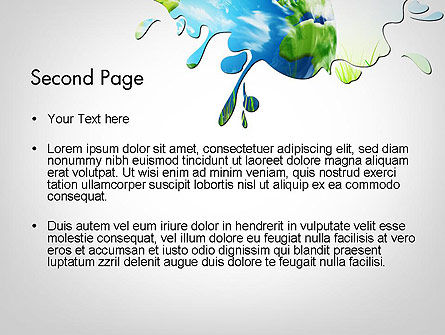 Green World PowerPoint Template, Slide 2, 11961, Global — PoweredTemplate.com
