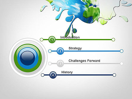 Green World PowerPoint Template, Slide 3, 11961, Global — PoweredTemplate.com