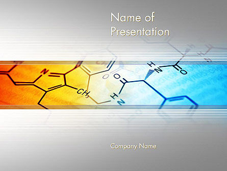 Chemistry Themed PowerPoint Template, 11962, Technology and Science — PoweredTemplate.com