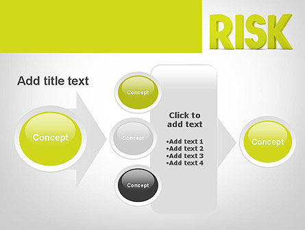 Word RISK PowerPoint Template Slide 17