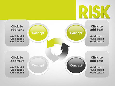 Word RISK PowerPoint Template Slide 9