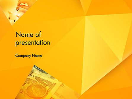 Financial/Accounting: Financial Yellow Origami PowerPoint Template #11966